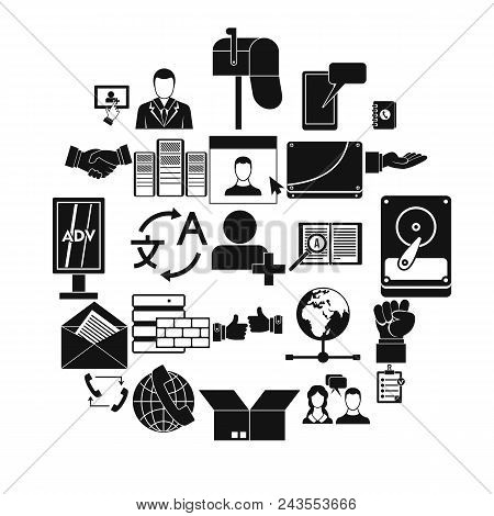 Cooperation Icons Set. Simple Set Of 25 Cooperation Vector Icons For Web Isolated On White Backgroun