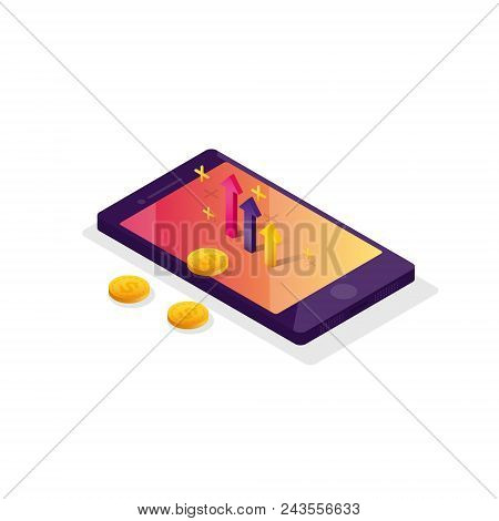 Payment By Means Of The Payments Electronic Online, Smartphone. Receipt Of Statistics Data, Notifica