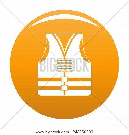 Rescue Vest Icon. Simple Illustration Of Rescue Vest Vector Icon For Any Design Orange