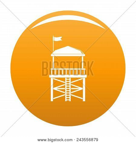 Rescue Tower Icon. Simple Illustration Of Rescue Tower Vector Icon For Any Design Orange