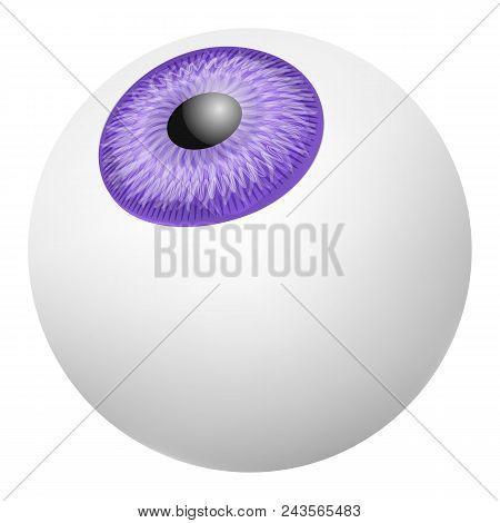 Up Vision Eyeball Mockup. Realistic Illustration Of Up Vision Eyeball Vector Mockup For Web Design I