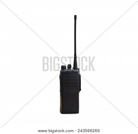 Portable Radios Walkie-talkie Isolated On White Transmitter, Radio, Portable Radio, Set, Portable Ra