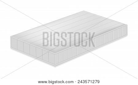 Soft Mattress Mockup. Realistic Illustration Of Soft Mattress Vector Mockup For Web Design Isolated
