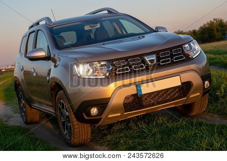 Warsaw, Poland-april 2018: Presentation Of The New Suv Dacia Duster, Outdoor Session