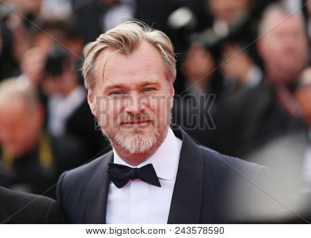 Christopher Nolan attends the screening of 'Sink Or Swim (Le Grand Bain)' during the 71st annual Cannes Film Festival at Palais des Festivals on May 13, 2018 in Cannes, France.