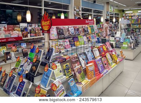Bangkok, Thailand - June 01: Se-ed Book Put Up Books That Are Best Sellers On Display In Bangkok On