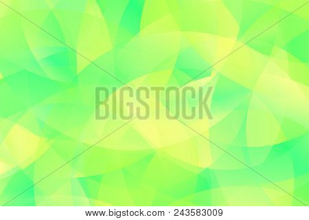 Abstract Green Vector Background. Spring Nature Texture In Bright Colors. Round Backdrop With Transp