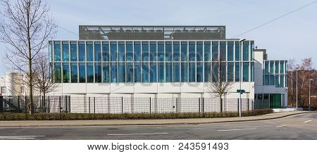 Ruschlikon, Switzerland - April 2, 2018: One Of The Buildings Of Ibm Research - Zurich. Ibm Research