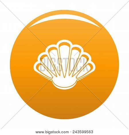 Nice Shell Icon. Simple Illustration Of Nice Shell Vector Icon For Any Design Orange