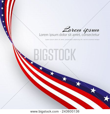 American Flag Vector Background For Independence Day And Other Events Patriotic Background With Star