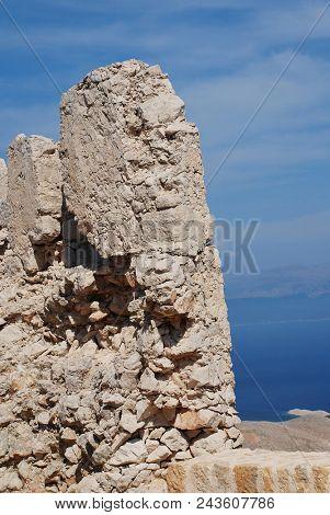 The medieval Crusader Knights castle on the Greek island of Halki.