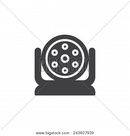Spotlight Vector Icon. Filled Flat Sign For Mobile Concept And Web Design. Strobe Lights Simple Soli
