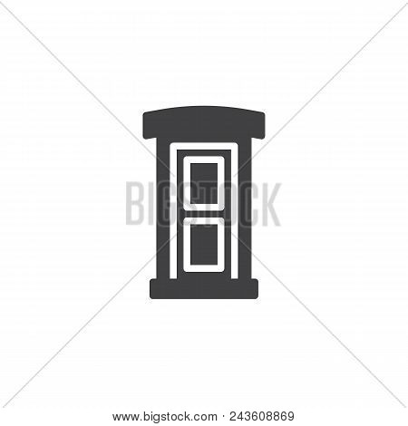 Public Toilet Vector Icon. Filled Flat Sign For Mobile Concept And Web Design. Portable Street Toile