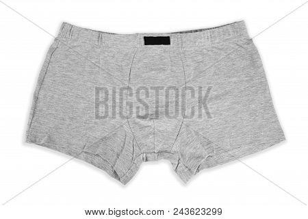Male Cotton Pantie On White Background. Fashion Cloth, Lingerie