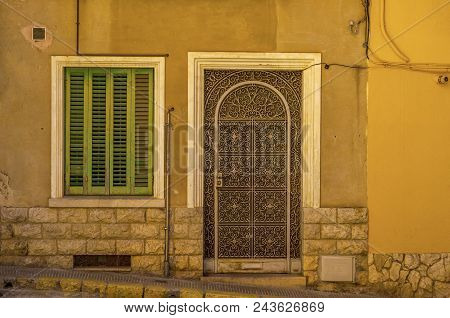 Old Door With Interesting Texture, Element Of Architecture, Interesting Entrance To The Building, Vi