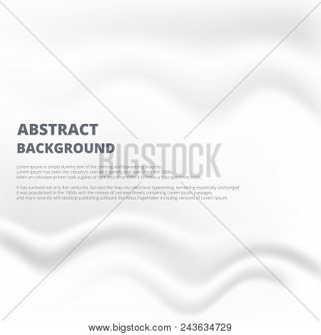 Abstraction of white paper with smoogh crease and rumple background design joining with copy space. illustration vector eps10 poster
