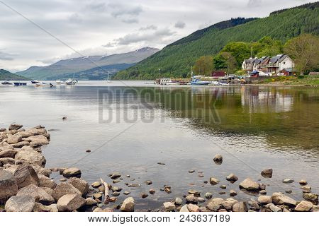 View At Loch Tay Near Village Kenmore In Scotland