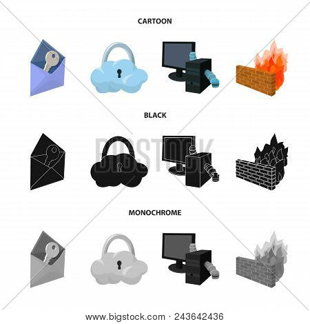 System, Internet, Connection, Code .hackers And Hacking Set Collection Icons In Cartoon, Black, Mono