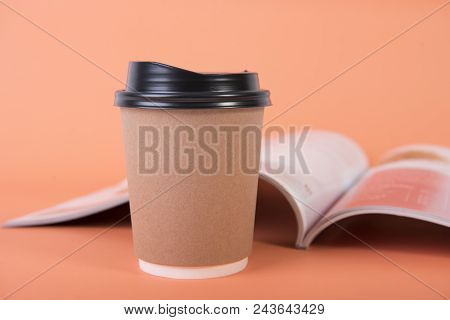 Coffee Paper Cup. Mock Up For Creative Design Branding.