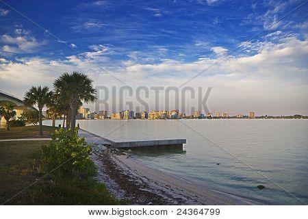 Coastal Shore of Downtown Sarasota