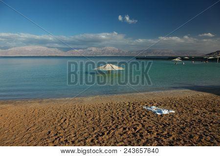 Dead Sea beach, Ein Bokek, Israel