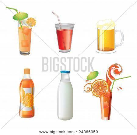 Illustration Of Different Beverages