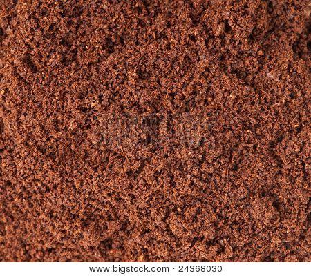 coffee powder texture close up