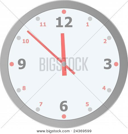 vector clock isolated on white background