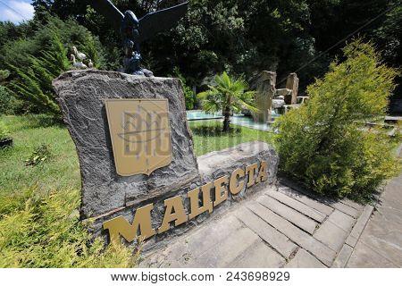 SOCHI, RUSSIA - JUL 07, 2017: Resort Matsesta, deposit of hydrogen sulfide springs in Krasnodar Territory