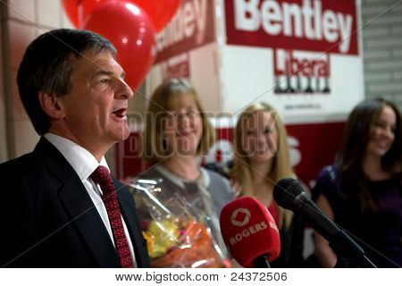 Chris Bentley Re-elected.