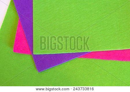 Felt Sheets. Colorful Felt Sheets Set. Sewing Material