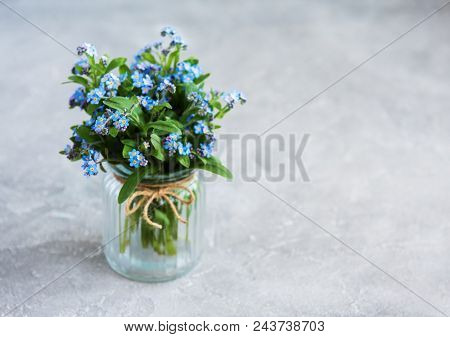 Bouquet Of Forget Me Nots