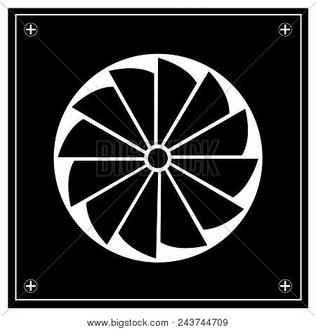 Illustration Of Exhaust Fan Icon. Emblem. Sign
