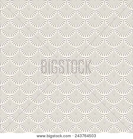 Abstract Japanese Circles Wave Pattern. Water Curve Texture. You Can Use For Background. Vector Illu
