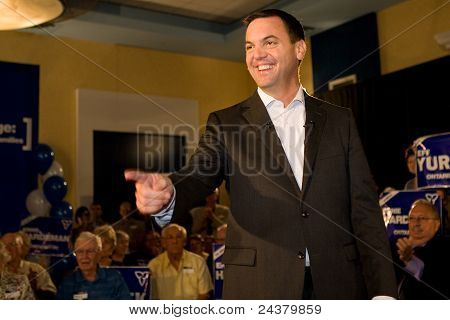 Tim Hudak campaigns for 2011 Ontario Election