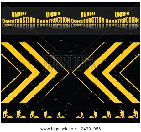 under construction web site template - vector illustration