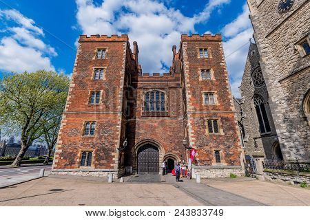 London, United Kingdom - May 04: This Is Lambeth Palace, An Historic Landmark Building And The Offic
