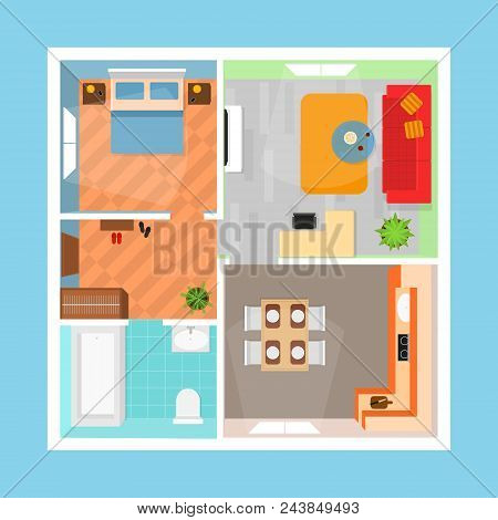 Cartoon Apartment Vector Photo Free Trial Bigstock Delectable Apartments Floor Plans Design Style