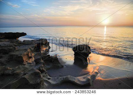 Blowing Rocks Sunrise / Sunrise From Blowing Rocks Beach Near Stuart, Florida