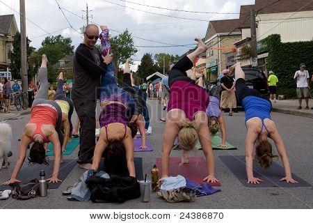 Car Free Day - Yoga in the Street.