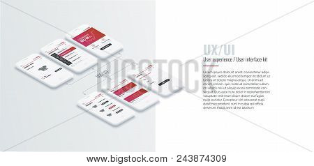 A Conceptual Mobile Phones With A Mobile App Pagese. User Experience, User Interface In E-commerce.