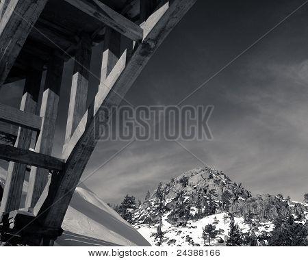 Bridge on old road, Donner Pass, Donner Lake, California
