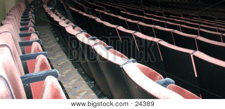 Close Up Of Theatre Seats