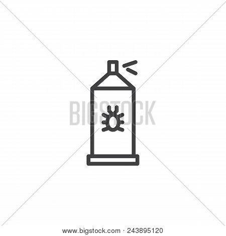 Bug Sprayer Outline Icon. Linear Style Sign For Mobile Concept And Web Design. Bug Disinfection Simp