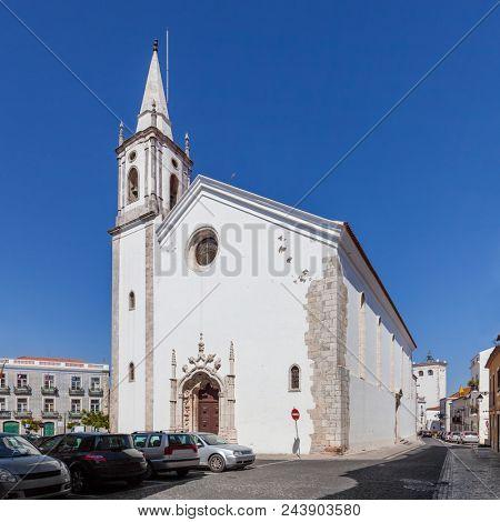 Nossa Senhora de Marvila Church. 16th century Renaissance and Manueline architecture. Santarem, Portugal.