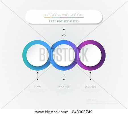 Vector Infographic 3d Circle Label Template Design.infograph With 3 Number Options Or Steps. Infogra