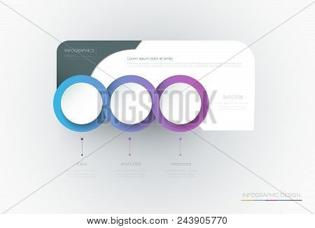 Vector Infographic 3d Circle Label Template Design.infograph With 4 Number Options Or Steps. Infogra
