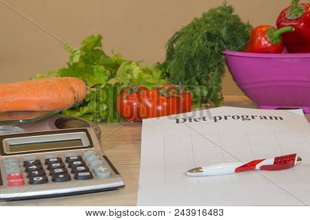 Vegetables, Tomato. The Idea Of Healthy Diet, Dietary Breakfast. Losing Weight With The Help Of A Ve