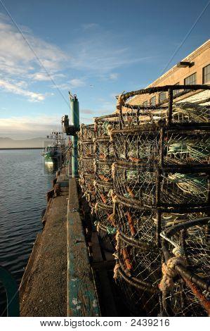 Crab Traps On Pier At Fisherman'S Wharf San Francisco