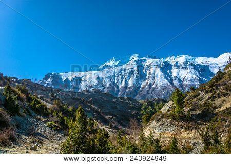 Rural Landscape In Nepal.
